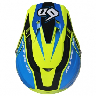 6D ATR-2 Strike Neon Yellow Blue Helmet Image 4