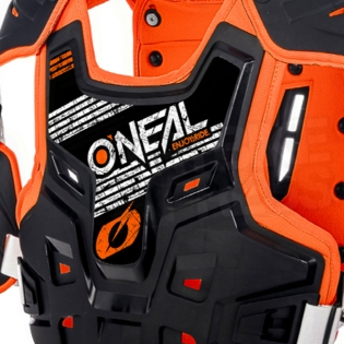 ONeal PXR Stone Shield Black Orange Chest Protector Image 2