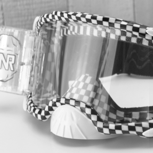 Rip n Roll Platinum WVS Chequered Flag Roll Off Goggles Image 2