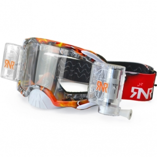 Rip n Roll Platinum WVS Red Tattoo Roll Off Goggles Image 3