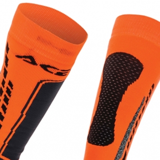 Acerbis Pro Black Orange  Motocross Socks Image 2
