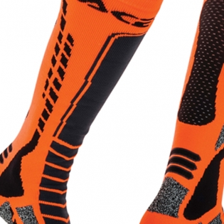 Acerbis Pro Black Orange  Motocross Socks Image 3