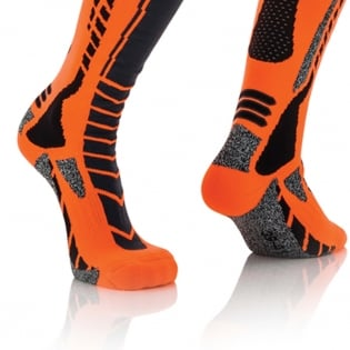 Acerbis Pro Black Orange  Motocross Socks Image 4
