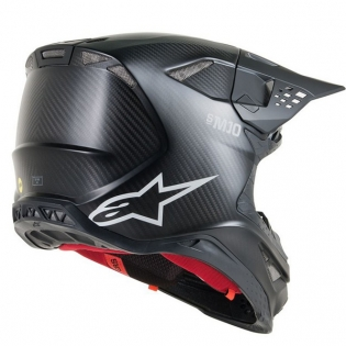 Alpinestars Supertech SM10 Solid Black Matt Carbon Helmet Image 3