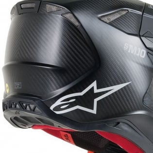 Alpinestars Supertech SM10 Solid Black Matt Carbon Helmet Image 4