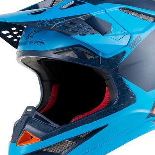 Alpinestars Supertech SM10 Meta Black Aqua Orange Helmet Image 2