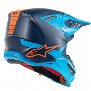 Alpinestars Supertech SM10 Meta Black Aqua Orange Helmet Image 3