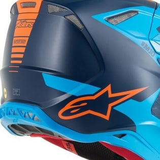 Alpinestars Supertech SM10 Meta Black Aqua Orange Helmet Image 4