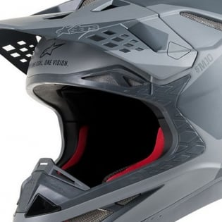 Alpinestars Supertech SM10 Meta Anthracite Grey Orange Helmet Image 2