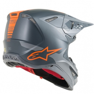Alpinestars Supertech SM10 Meta Anthracite Grey Orange Helmet Image 3