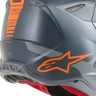 Alpinestars Supertech SM10 Meta Anthracite Grey Orange Helmet Image 4