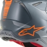 Alpinestars Supertech SM10 Meta Anthracite Grey Orange Helmet