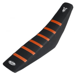 Guts Racing KTM Black Orange Rib Seat Cover Image 2