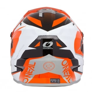 ONeal 3 Series Riff Orange Motocross Helmet Image 2