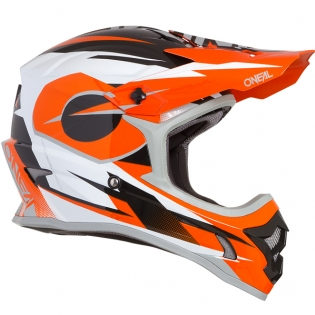 ONeal 3 Series Riff Orange Motocross Helmet Image 4