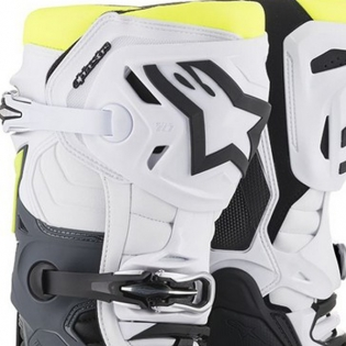 Alpinestars Tech 10 Black White Yellow Fluo Boots Image 2