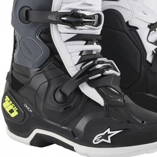 Alpinestars Tech 10 Black White Yellow Fluo Boots Image 4