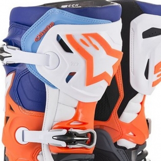 Alpinestars Tech 10 Cool Grey Orange Fluo Blue Wht Boots Image 2