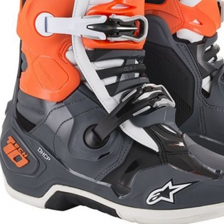 Alpinestars Tech 10 Cool Grey Orange Fluo Blue Wht Boots Image 4