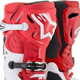 Alpinestars Tech 10 Red White Black Boots Image 2