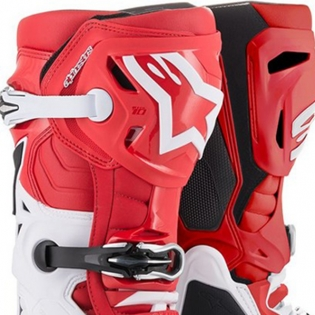 Alpinestars Tech 10 Red White Black 19 Boots Image 2
