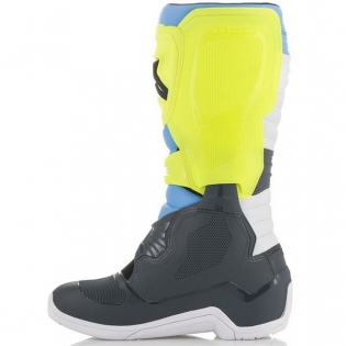 Alpinestars Tech 3 Cool Grey Fluo Yellow Cyan Boots Image 3