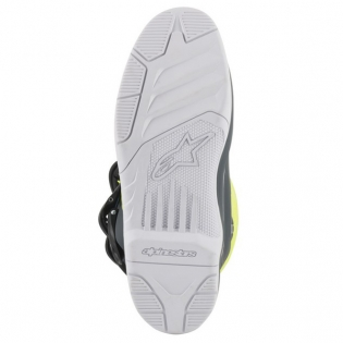 Alpinestars Tech 3 Cool Grey Fluo Yellow Cyan Boots Image 4