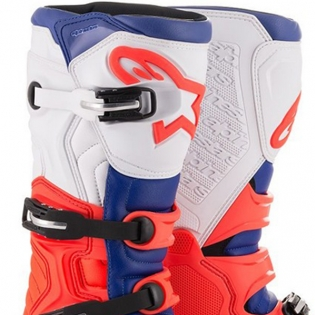 Alpinestars Tech 5 Red Fluo Blue White Boots Image 2