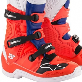 Alpinestars Tech 5 Red Fluo Blue White Boots Image 4