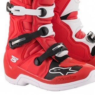 Alpinestars Tech 5 Red White Boots Image 3