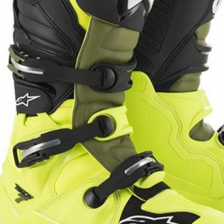 Alpinestars Tech 7 Flo Yellow Military Green Black Boots Image 3