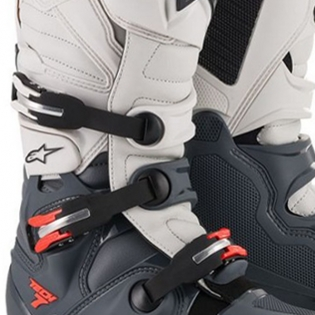 Alpinestars Tech 7 Dark Grey Red Fluo Boots Image 3