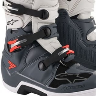 Alpinestars Tech 7 Dark Grey Red Fluo Boots Image 4