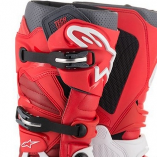 Alpinestars Tech 7 White Red Burgundy Boots Image 2