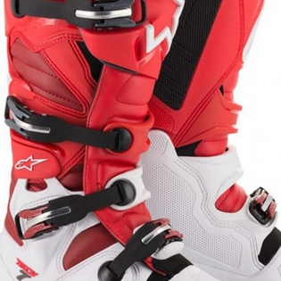 Alpinestars Tech 7 White Red Burgundy Boots Image 3