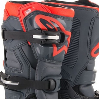Alpinestars Kids Tech 7S Black Grey Red Fluo Boots Image 2
