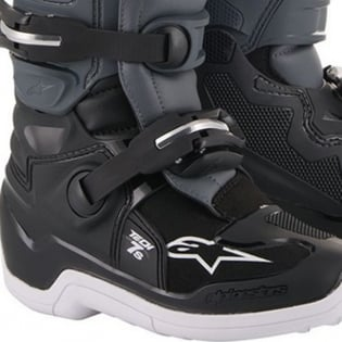 Alpinestars Kids Tech 7S Black Grey Red Fluo Boots Image 4