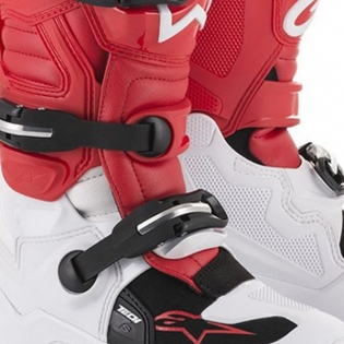 Alpinestars Kids Tech 7S White Red Grey Boots Image 3