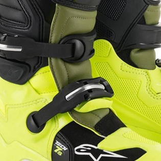 Alpinestars Kids Tech 7S Fluo Yellow Military Green Black Boots Image 3