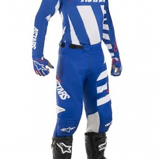 Alpinestars Racer Braap Pants - Blue White Red Image 2