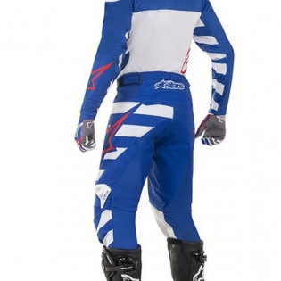 Alpinestars Racer Braap Pants - Blue White Red Image 4