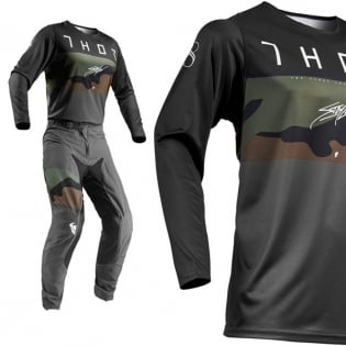 Thor Prime Pro Fighter Charcoal Camo Pants Image 2