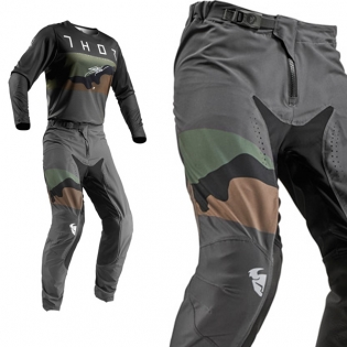 Thor Prime Pro Fighter Charcoal Camo Pants Image 4