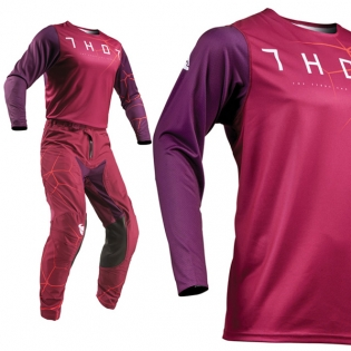 Thor Prime Pro Infection Maroon Orange Pants Image 2