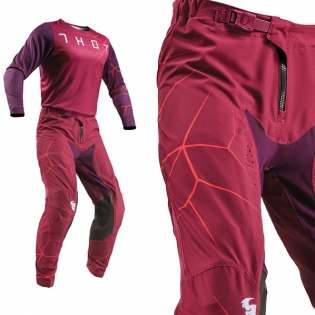 Thor Prime Pro Infection Maroon Orange Pants Image 4