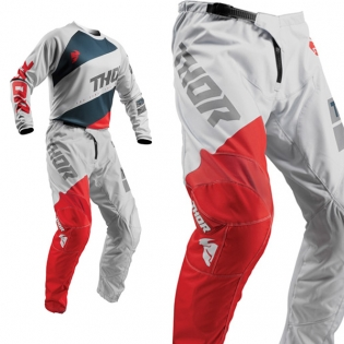 Thor Sector Shear Light Grey Red Pants Image 4