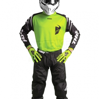 Thor Kids Sector Zones Lime Jersey  Image 2