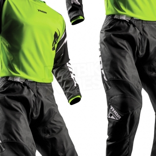 Thor Kids Sector Zones Lime Jersey  Image 3