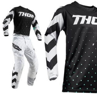 Thor Kids Pulse Stunner Black White Pants Image 2