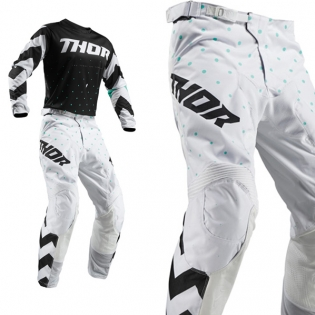 Thor Kids Pulse Stunner Black White Pants Image 4